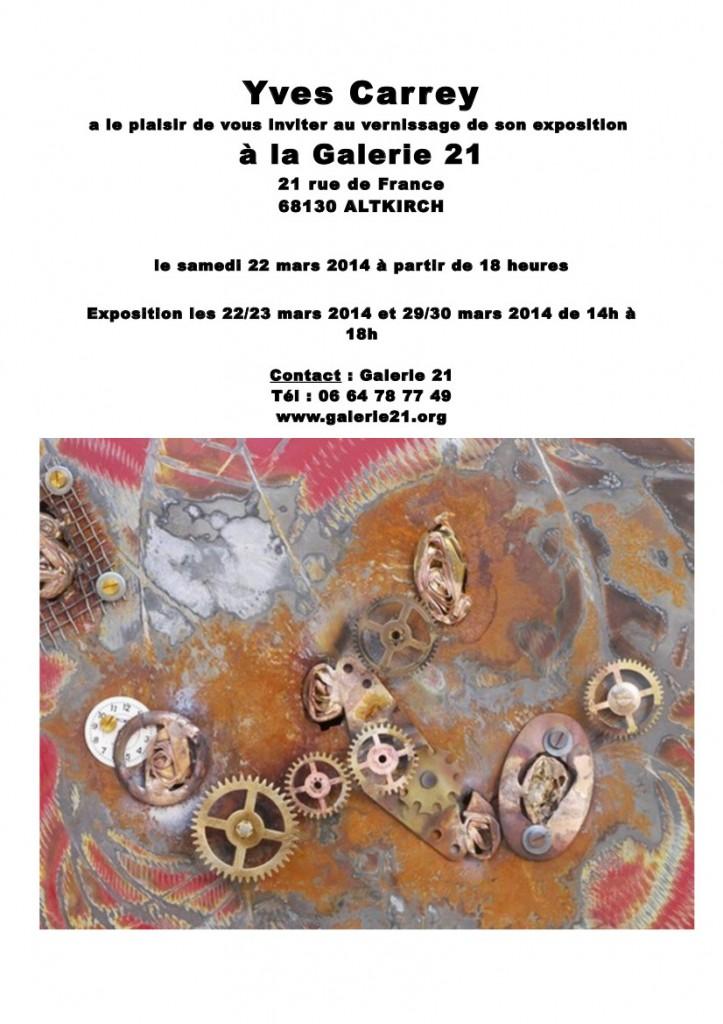 carton invit' Galerie 21