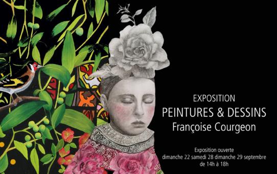 Invitation expo Françoise Courgeon